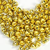 RUBYCA 100 Sets 9MM Gold Color Bullet Cone Spike and Stud Metal Screw Back for DIY Leather-craft