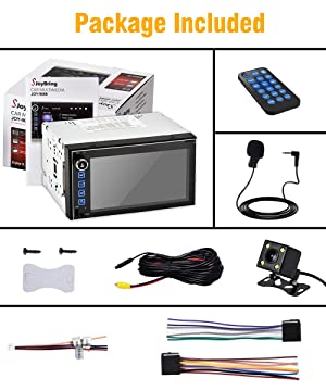 SJoyBring JOY-9086 Double Din HD Capacitive Touch AM/FM Car Stereo - 10 Band EQ, PhoneLink - Bluetooth, USB, MicroSD with Backup Camera (Color: Double Din Bluetooth DSP Stereo)
