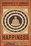 Thousands Of Candles Buddha Motivational 24x36 Poster Art Print Happiness