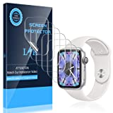 LK [6 Pack] Screen Protector for Apple Watch 42mm Series 3 2 1 - Max Coverage Bubble-Free Anti-Scratch iWatch 42mm Flexible TPU Film with Lifetime Replacement Warranty