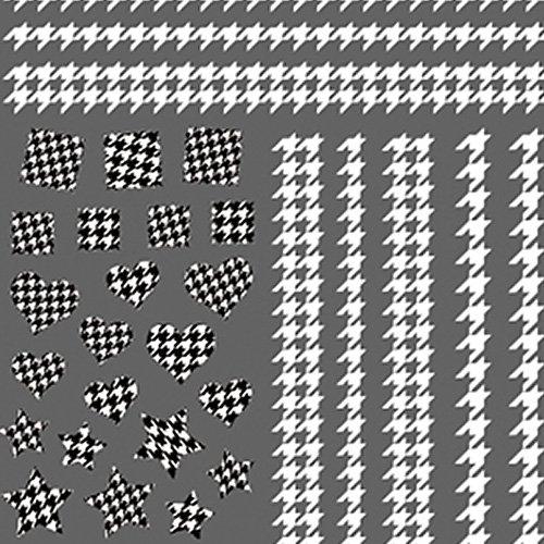 ツメキラ TSUMEKIRA スタンダードスタイル 千鳥格子 ホワイト NNーTEX-101