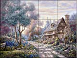 The Woodlands by Carl Valente Tile Mural for Kitchen Backsplash Bathroom Wall Tile Mural