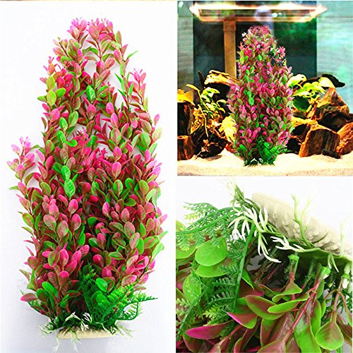 new-fish-tank-46cm-rhodo-green-plastic-water-plant-for-aquarium-ornament-decoration-set27