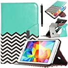 Tab 4 7.0 Case, ULAK Case for Samsung Galaxy Tab 4 7.0 T230 /T231/ T235 Galaxy Tab 4 Nook PU Leather 360 Rotating Stand Cover with Screen Protector + Stylus (Follow the sky)