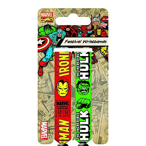 Marvel Retro Iron Man e Hulk Doppio Festival Wristband Set