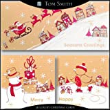 Tom Smith Flitter Kraft Effect Characters Cards, Pack of 18, Multi-Coloured