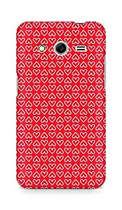 Amez designer printed 3d premium high quality back case cover for Samsung Galaxy Core 2 (Heart Pattern2)