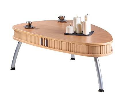 Simmob Oval Coffee Table cognac616hk Panel Beech Melamine/83 x 125 x 44 cm