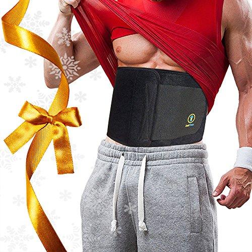Just Fitter Premium Waist Trainer & Trimmer Ab Sweat Belt Per Uomo e Donna. Più completamente regolabile rispetto alle altre Cinture Sauna Dimagranti Addominali. Fornisce il Migliore Supporto per la Schiena e la Fascia Lombare. Risultati Garantiti.