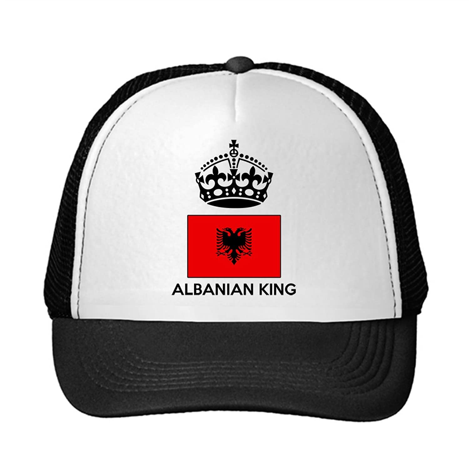 ALBANIAN KING Flag Country Adjustable Trucker Hat Cap