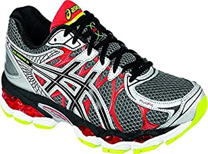 ASICS Men's Gel-Nimbus 16 Running Shoe,Titanium/Black/Red,12 M US