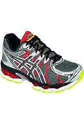 ASICS Men's Gel-Nimbus 16 Running Shoe,Titanium/Black/Red,8.5 M US