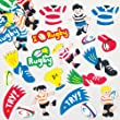 Rugby Foam Stickers for Children to Decorate Cards Crafts and Collage (Pack of 120)