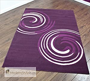 Aubergine plum and cream stunning modern home rug for Plum and cream rug