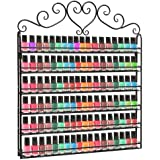 Professional Black Metal Nail Polish Mountable 6 Tier Organizer Display Rack - MyGift®