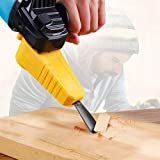 Aguoxing Wood Carving Electric Chisel M10 Adapter Set Changed Angle Grinder Into Power Chisel Woodworking Tool (Color: Yellow)