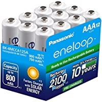 12-Pack Panasonic Rechargeable Batteries