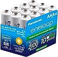 Panasonic BK-4MCCA12SA Eneloop AAA 2100 Cycle Ni-MH Pre-Charged Rechargeable Batteries, 12 Pack