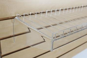 Acrylic Slatwall Display Shelf Case | Great for Essential Oils, Cosmetics, E Juice, E Liquid, Vape Juice & More! (6, 30ml)