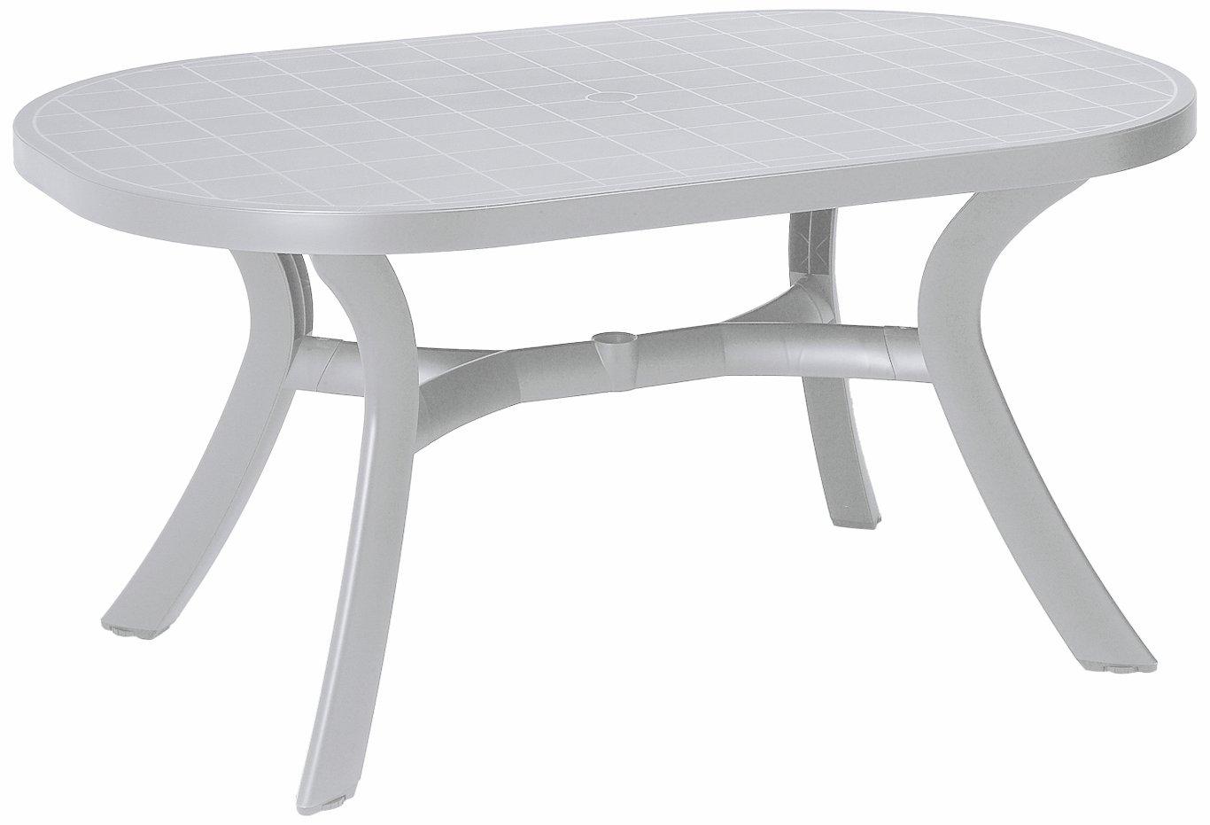BEST 18511500 Tisch Kansas oval 145 x 95 cm, weiß kaufen