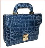 メンズ/紳士 セカンドバッグ/クロコダイル型押しセカンドバッグ/レザー/手提げバッグ/集金鞄/セカンド バッグ バック セカバ