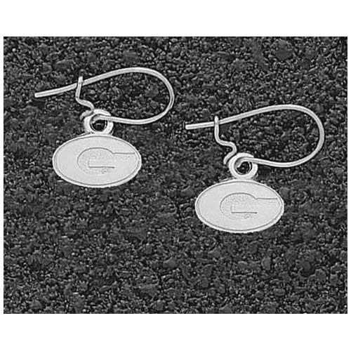 Logo Art Georgia Bulldogs Sterling Silver Team Font 5/16 Dangle Earrings