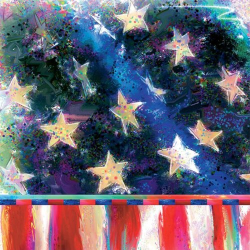 Ideal Home Range 20 Count Boston International 3-Ply Paper Cocktail Napkins, Patriotic Stars And Stripes