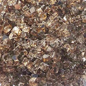 Dreffco 30 Lbs CopperFire Rated Fire Pit & Fireplace Flame Glass Crystals