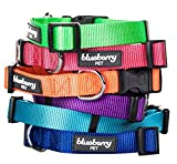 """Blueberry Pet Collars for Dogs, Neck 12""""-16"""", Small, Classic Solid Basic Polyester Nylon Dog Collar Made For Last - French Pink, Matching Leash & Harness Available Separately"""