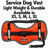 """Service Dog Vest Harness - Light Weight But Durable - Available Sizes 15"""" - 38"""" (Red (16"""" - 22""""))"""