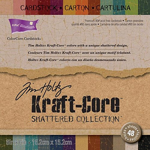 coredinations-kraft-core-by-tim-holtz-6x6-48-sheets-shattered