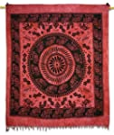 Mandala Tapestry Maroon Table Runner...