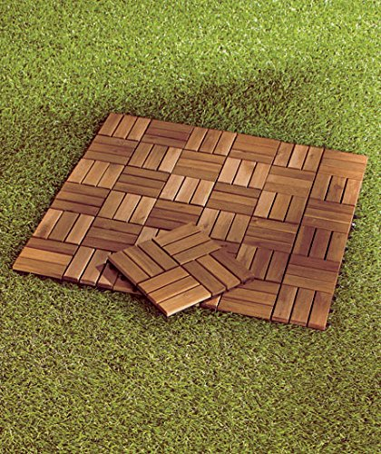 Set of 10 Wood Patio Pavers (Wood Patio Pavers compare prices)