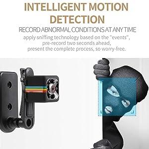 QEBIDUL SQ8 SQ9 Upgrade SQ11 Mini Camera 1080P Full HD Sports Micro Cam Motion Detection Camcorder Infrared Night Vision Digital Video Recorder Wide Angle (Color: black, Tamaño: small)
