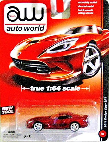 AUTO WORLD 1:64 SCALE RED 2014 DODGE VIPER SRT DIE-CAST - 1