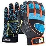 Franklin Youth Insanity Series Batting Gloves (Black|Neon Pink|Optic Yellow, X-Small), Extra Small/Multi-Color