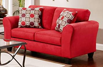 Chelsea Home Furniture Lehigh Loveseat, Patriot Red