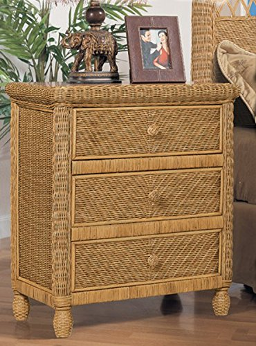 Santa Cruz 3 Drawer Wicker Chest
