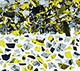 Confetti Party Sparkle Flakes Silver, Gold, Black 2.5 Ounce