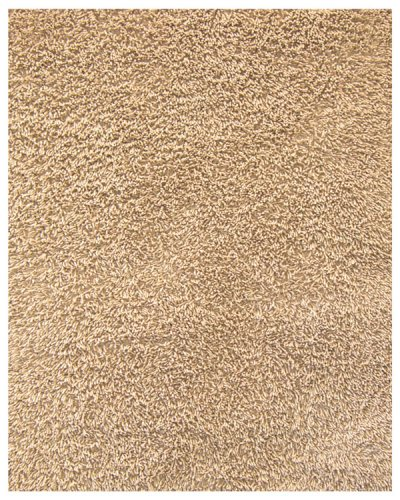 Anji Mountain Bamboo Chairmat & Rug Co. 5-Foot-by-8-Foot Silky Shag Rug, Beige
