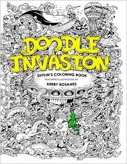Amazon Doodle Invasion Zifflins Coloring Book
