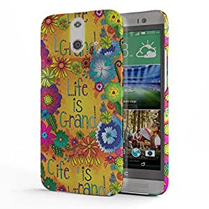 Koveru Designer Printed Protective Snap-On Durable Plastic Back Shell Case Cover for HTC One E8 - Sculpture