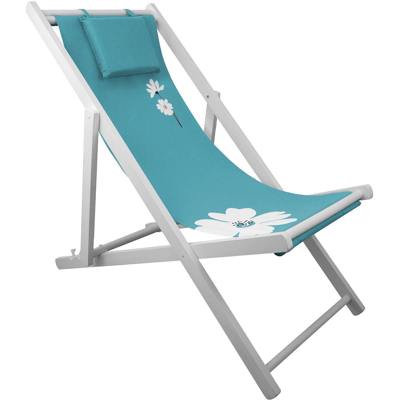Liegestuhl 4-fach verstellbar Campingstuhl Strandstuhl Gartenstuhl Klappstuhl Strandliege Campingliege - Blau