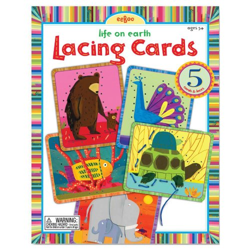 Eeboo Life on Earth Lacing Cards - 1
