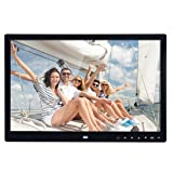 BORUL 15 Inch Large LED Screen High Definition Digital Photo Frame with Remote Controller (Black)