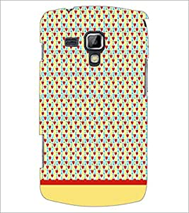 PrintDhaba I Love You Pattern D-1916 Back Case Cover for SAMSUNG GALAXY S DUOS 2 S7582 (Multi-Coloured)