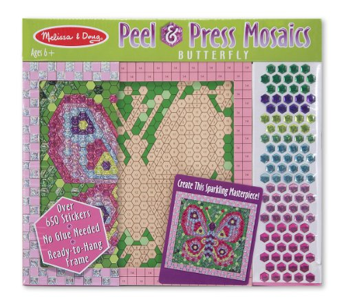 Melissa & Doug Peel & Press Sticker by Number - Butterfly - 1