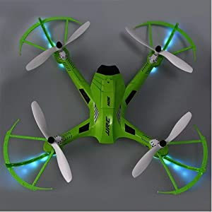 jkbfyt Camera Drone,H26D RC Drones Dron 6 Axis Gyro 2.4GHz 4CH RC Quadcopter with 5.0MP Wide Angle Camera 360 Degree Eversion Helicopter Toys (Color: Green)