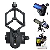 Gosky Big Type Universal Smartphone Adapter Mount for Spotting Scope Telescope Binocular Monocular, Black (Color: Big Type Smartphone adapter)