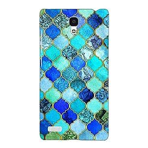 Jugaaduu Dark Blue Moroccan Tiles Pattern Back Cover Case For Redmi Note